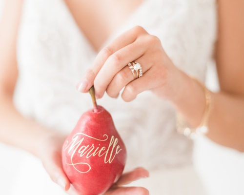 Red Pear Holiday Inspired Wedding